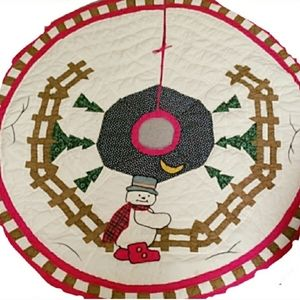 "Other - 45"" Round Snowman Tree Skirt"